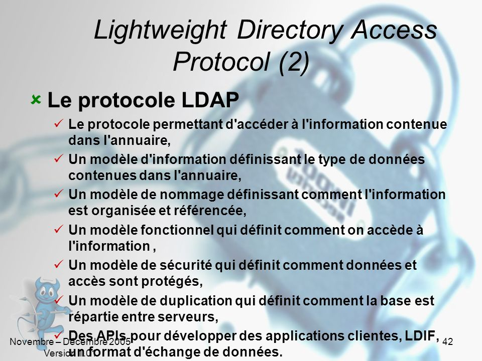 Lightweight Directory Access Protocol (2)