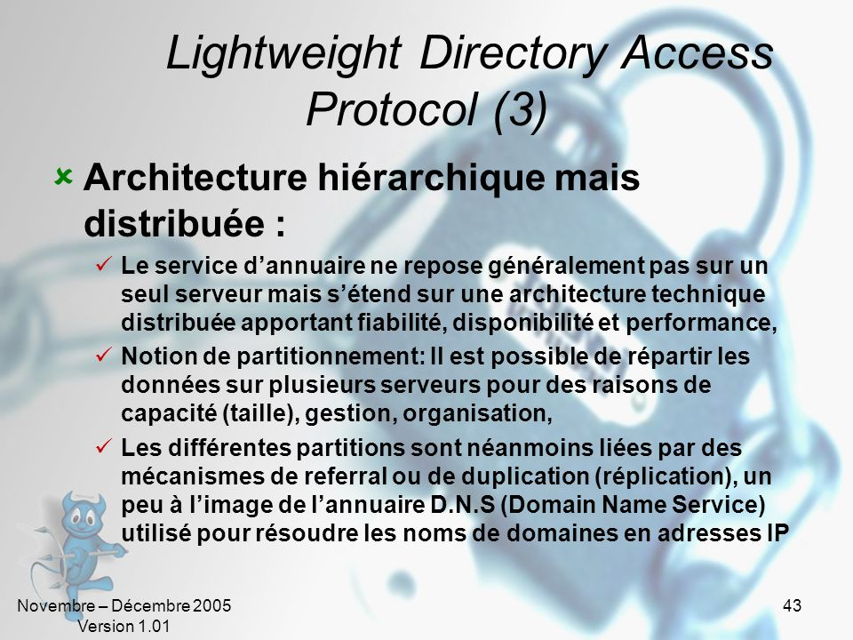 Lightweight Directory Access Protocol (3)