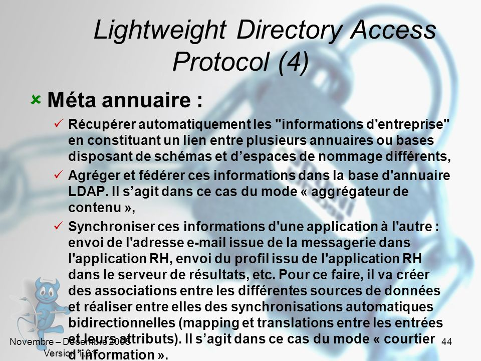 Lightweight Directory Access Protocol (4)