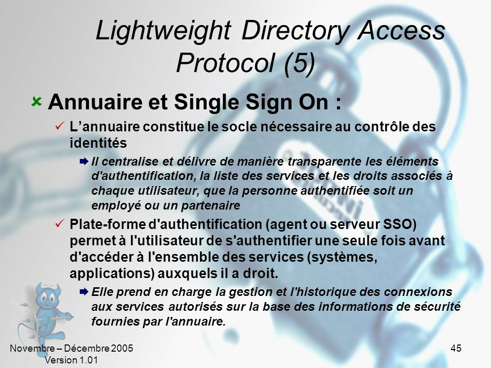 Lightweight Directory Access Protocol (5)