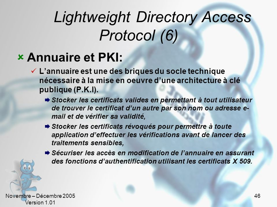 Lightweight Directory Access Protocol (6)