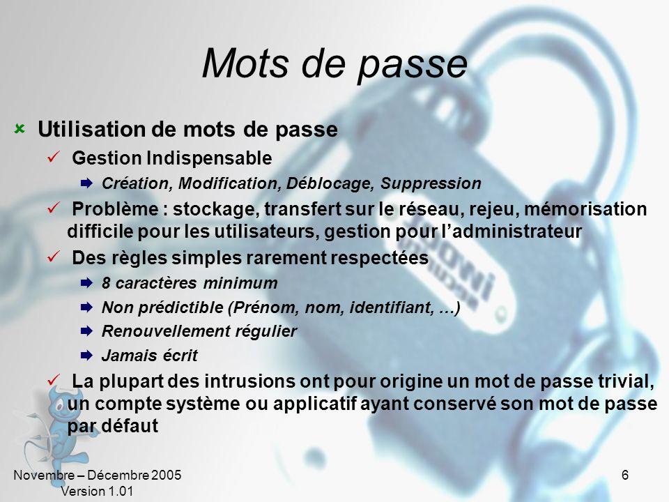 Mots de passe Utilisation de mots de passe Gestion Indispensable