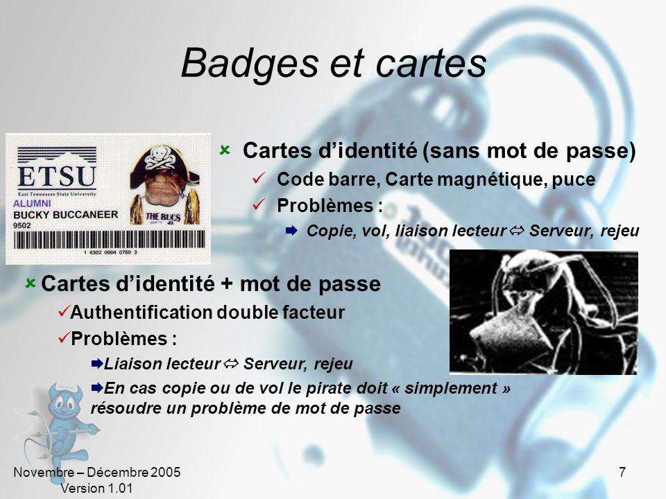 Badges et cartes Cartes d'identité (sans mot de passe)