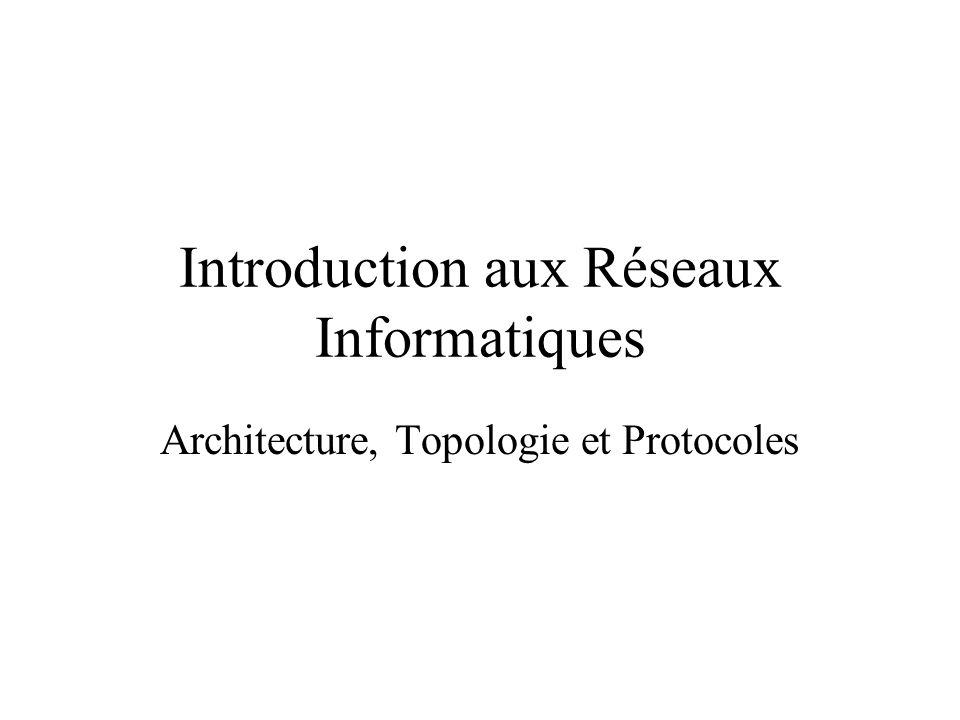 Introduction aux Réseaux Informatiques