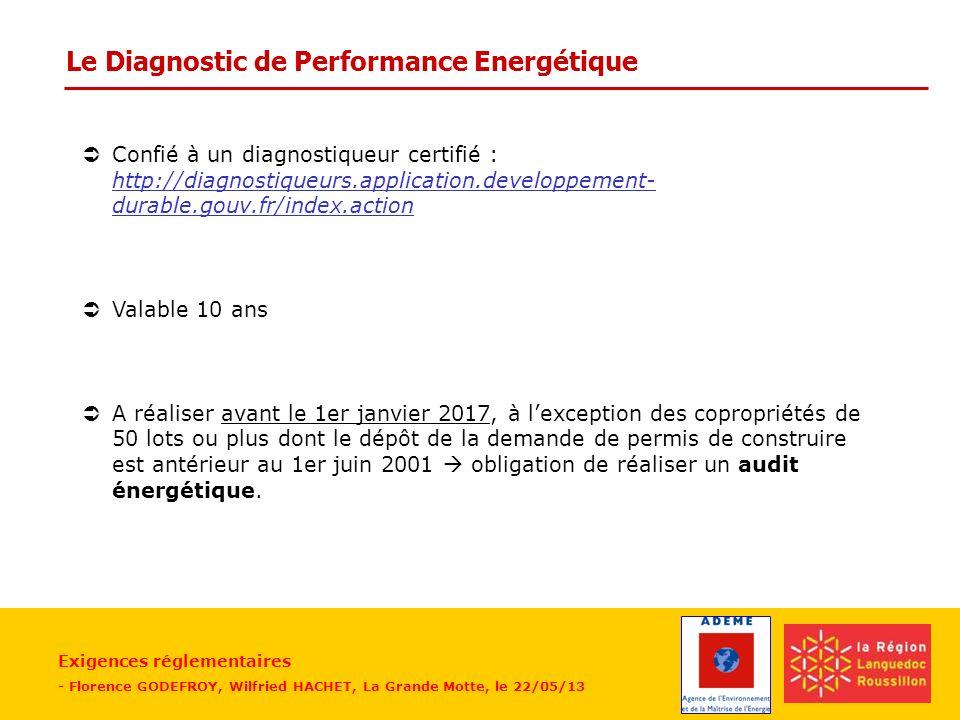 Le Diagnostic de Performance Energétique
