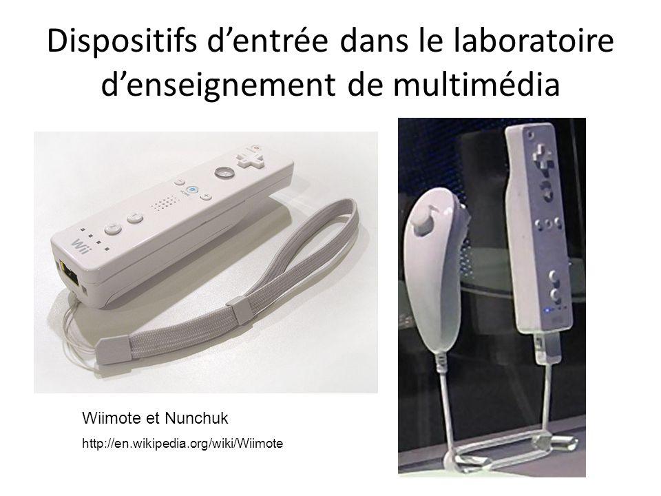 Dispositifs d'entrée dans le laboratoire d'enseignement de multimédia