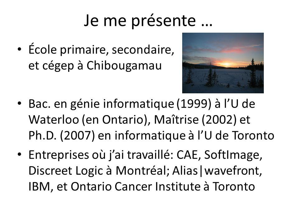 Je me présente … École primaire, secondaire, et cégep à Chibougamau