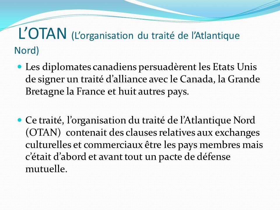 L'OTAN (L'organisation du traité de l'Atlantique Nord)