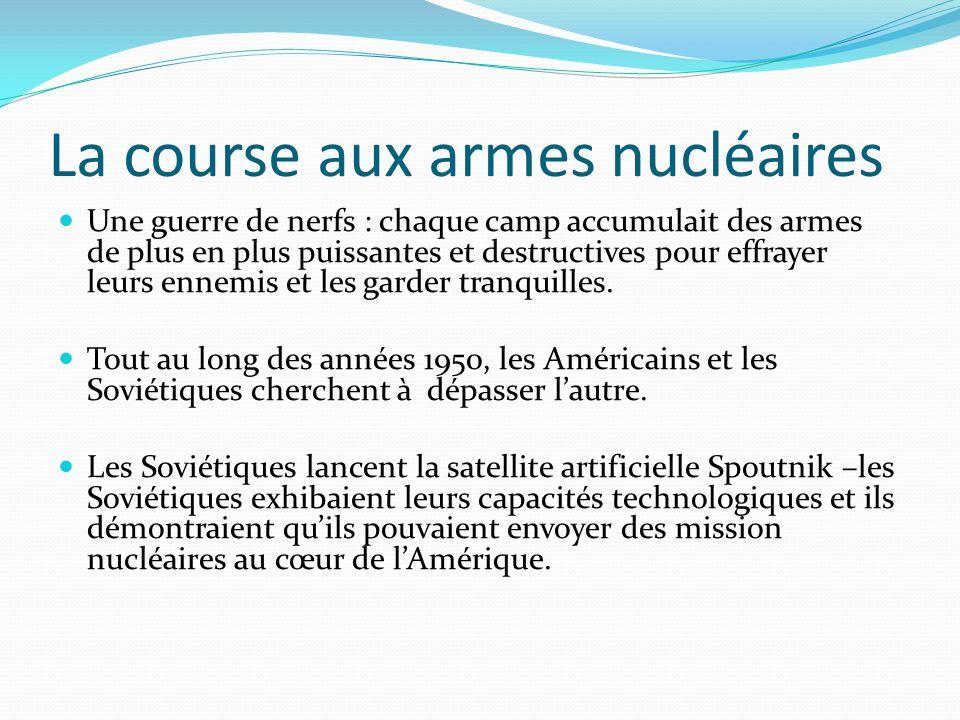 La course aux armes nucléaires