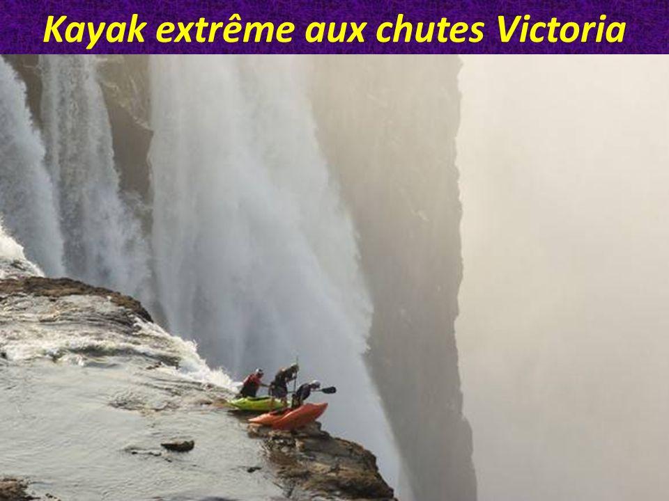 Kayak extrême aux chutes Victoria