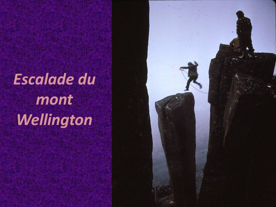 Escalade du mont Wellington
