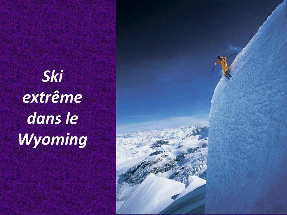 Ski extrême dans le Wyoming