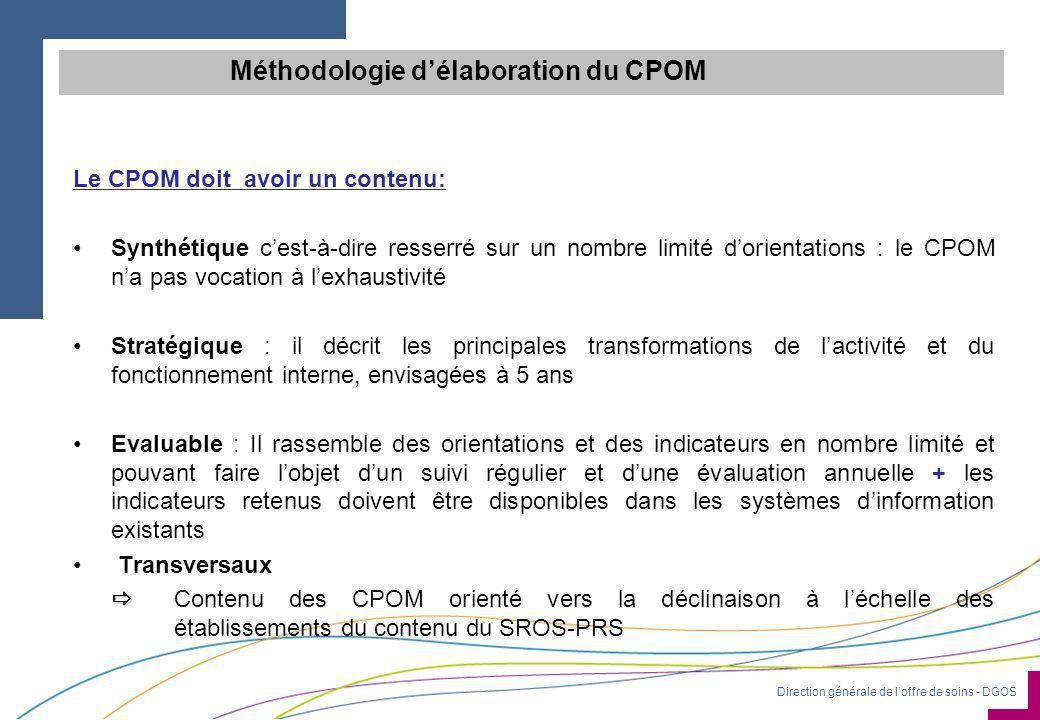 Méthodologie d'élaboration du CPOM