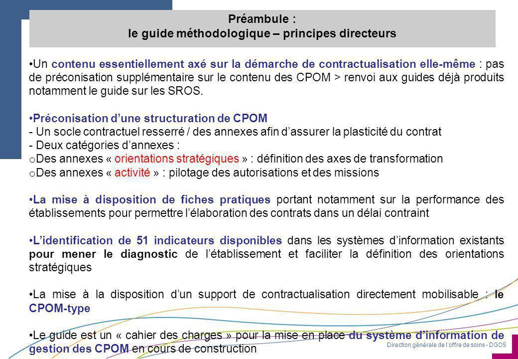 Préambule : le guide méthodologique – principes directeurs