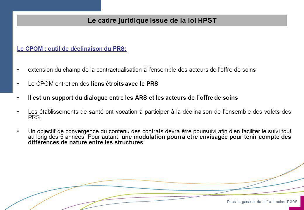 Le cadre juridique issue de la loi HPST