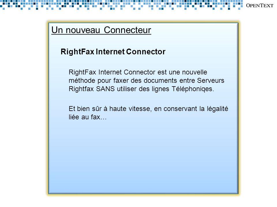 Un nouveau Connecteur RightFax Internet Connector