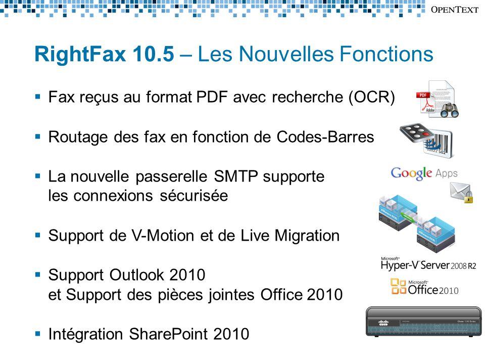 RightFax 10.5 – Les Nouvelles Fonctions