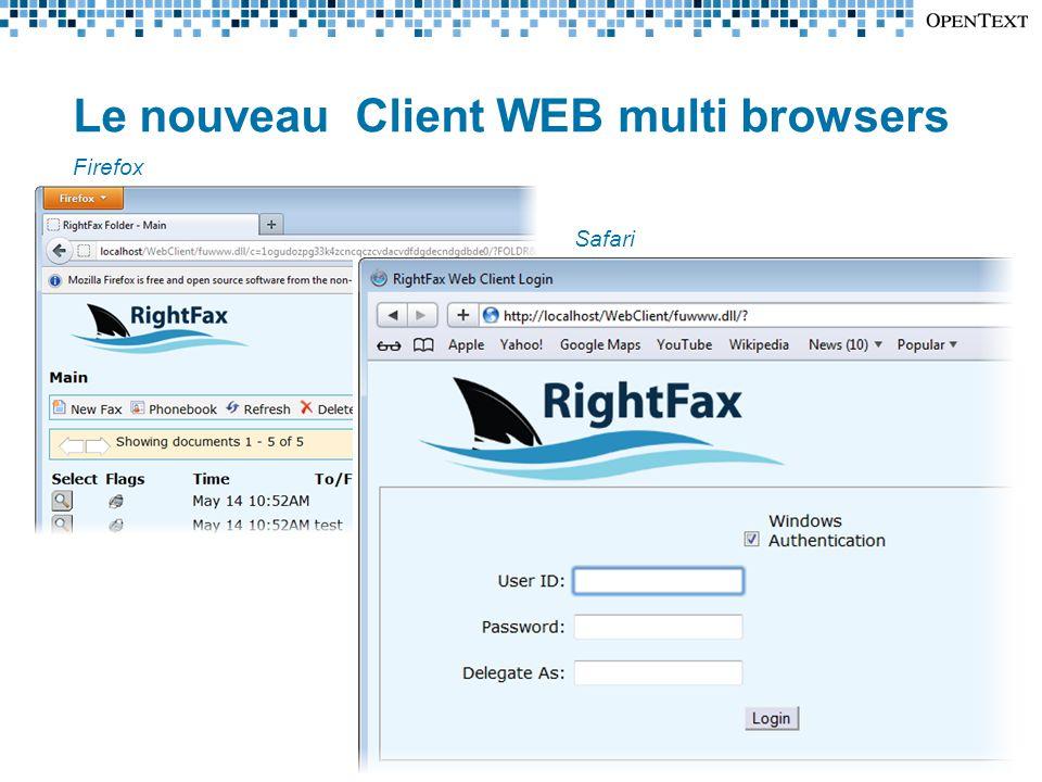 Le nouveau Client WEB multi browsers