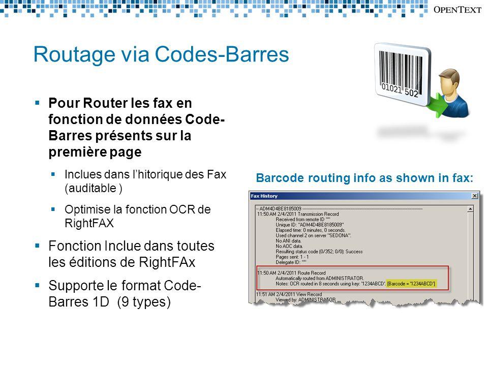 Routage via Codes-Barres
