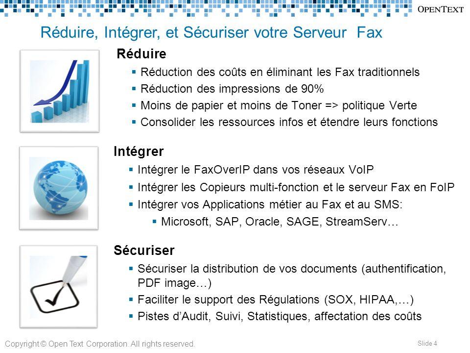 Réduire, Intégrer, et Sécuriser votre Serveur Fax