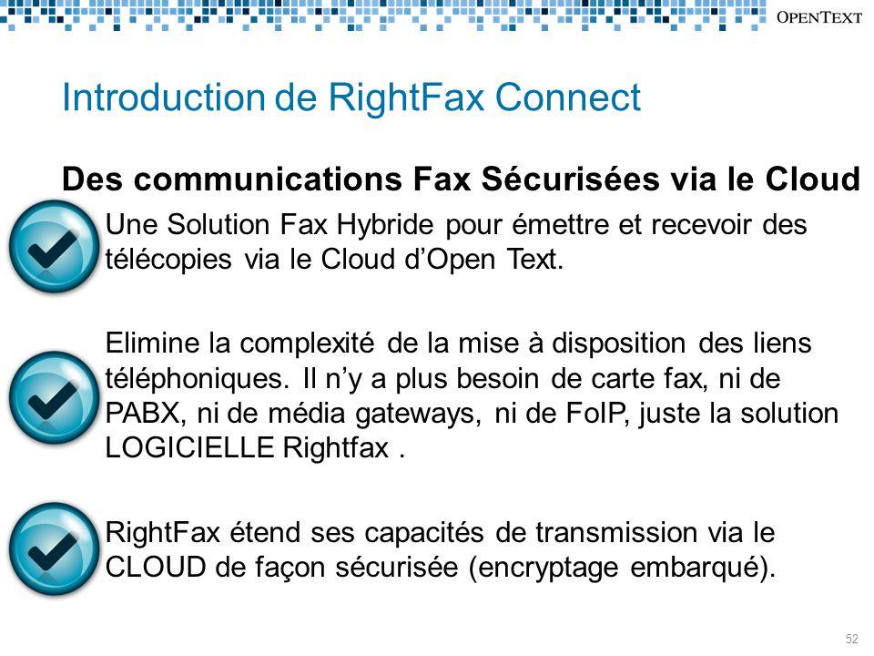 Introduction de RightFax Connect