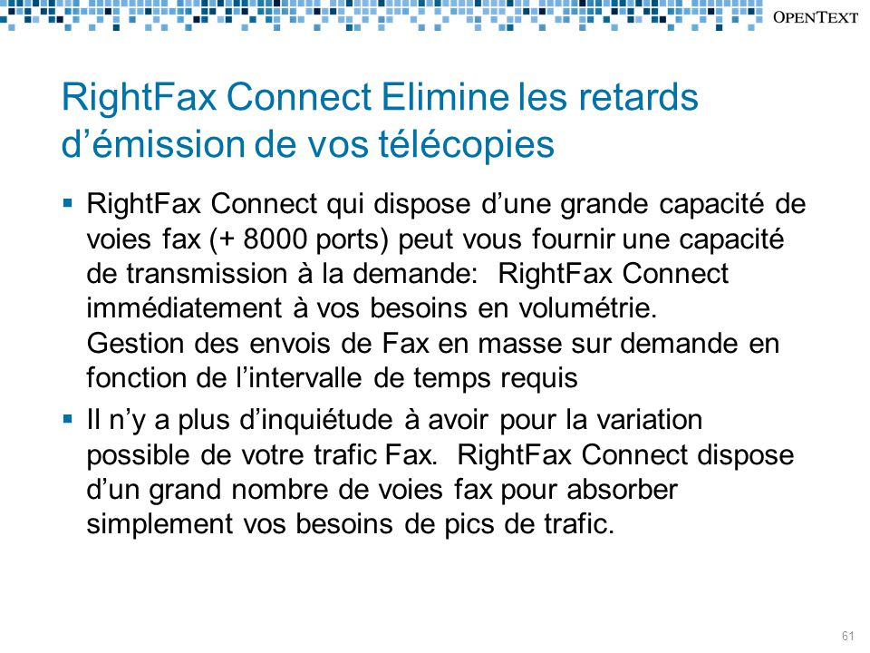 RightFax Connect Elimine les retards d'émission de vos télécopies