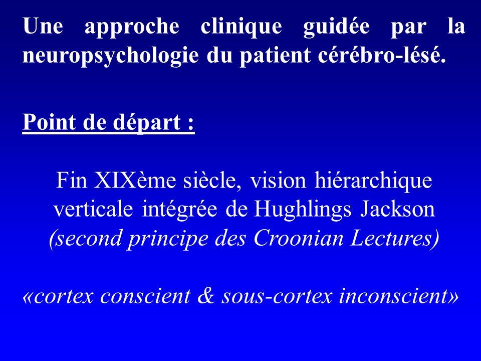 Une approche clinique guidée par la neuropsychologie du patient cérébro-lésé.
