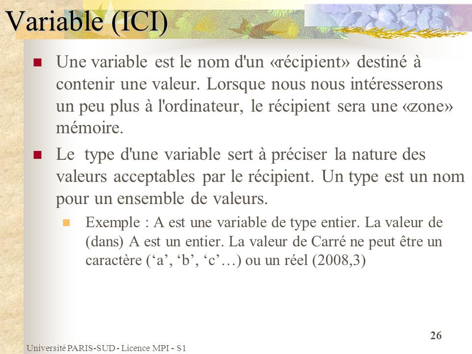 Variable (ICI)