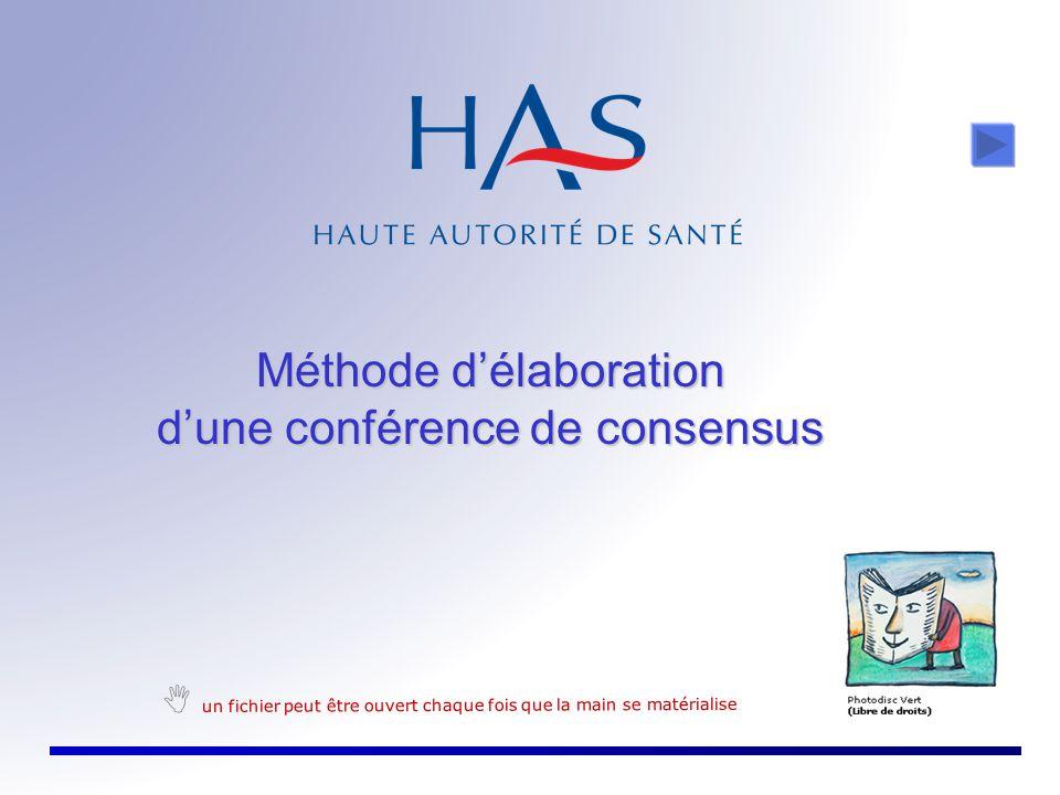 Méthode d'élaboration d'une conférence de consensus