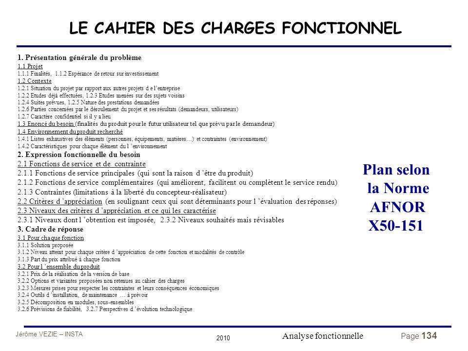 LE CAHIER DES CHARGES FONCTIONNEL