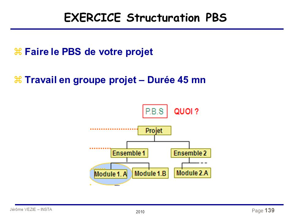 EXERCICE Structuration PBS
