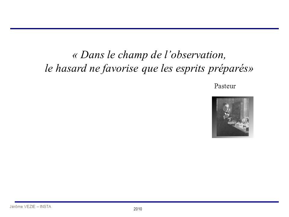 « Dans le champ de l'observation, le hasard ne favorise que les esprits préparés»