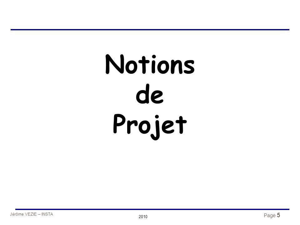 Notions de Projet