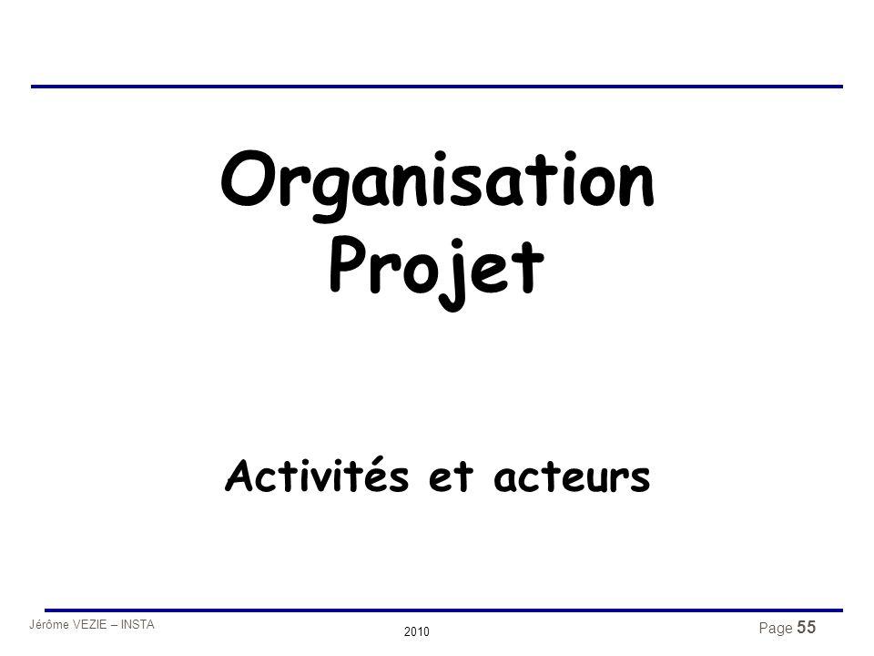 Organisation Projet Activités et acteurs