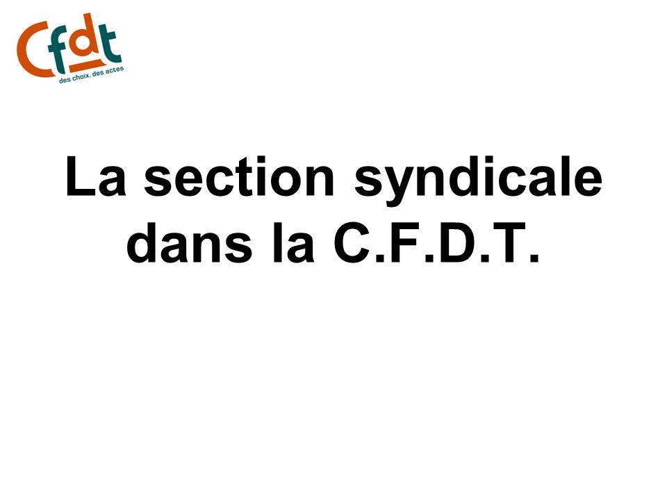 La section syndicale dans la C.F.D.T.