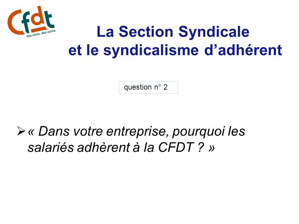 La Section Syndicale et le syndicalisme d'adhérent