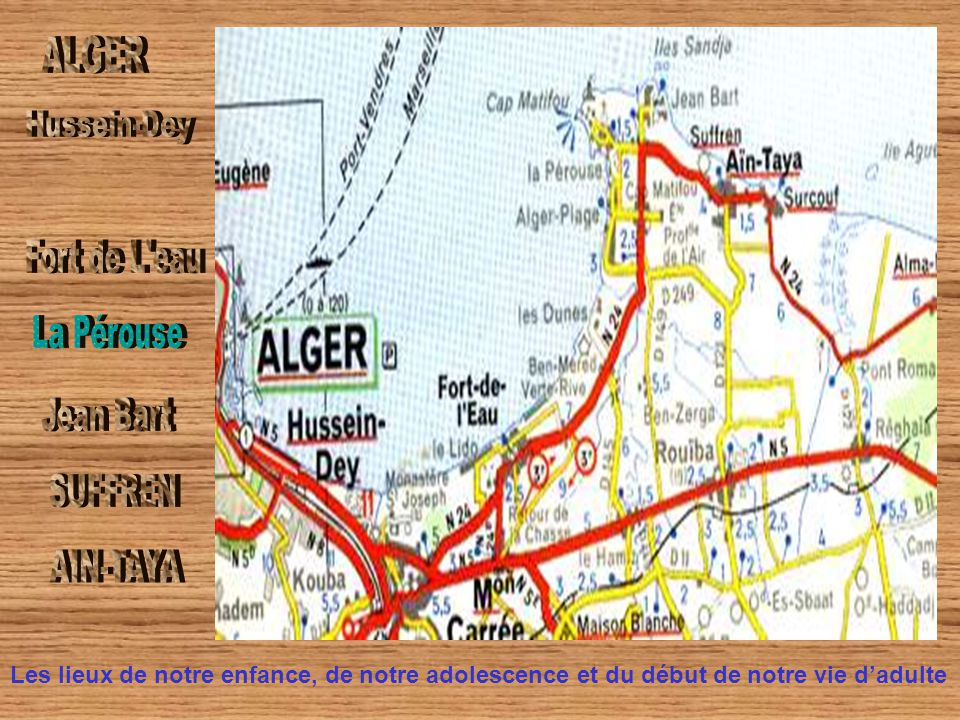 ALGER Hussein-Dey Fort de L eau La Pérouse Jean Bart SUFFREN AIN-TAYA