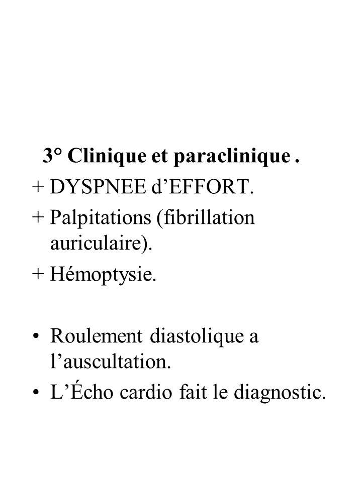 3° Clinique et paraclinique .