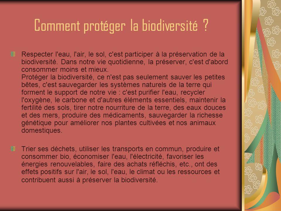 Comment protéger la biodiversité