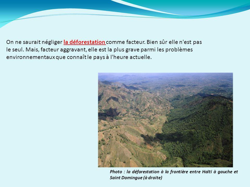 On ne saurait négliger la déforestation comme facteur