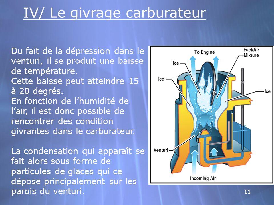 IV/ Le givrage carburateur
