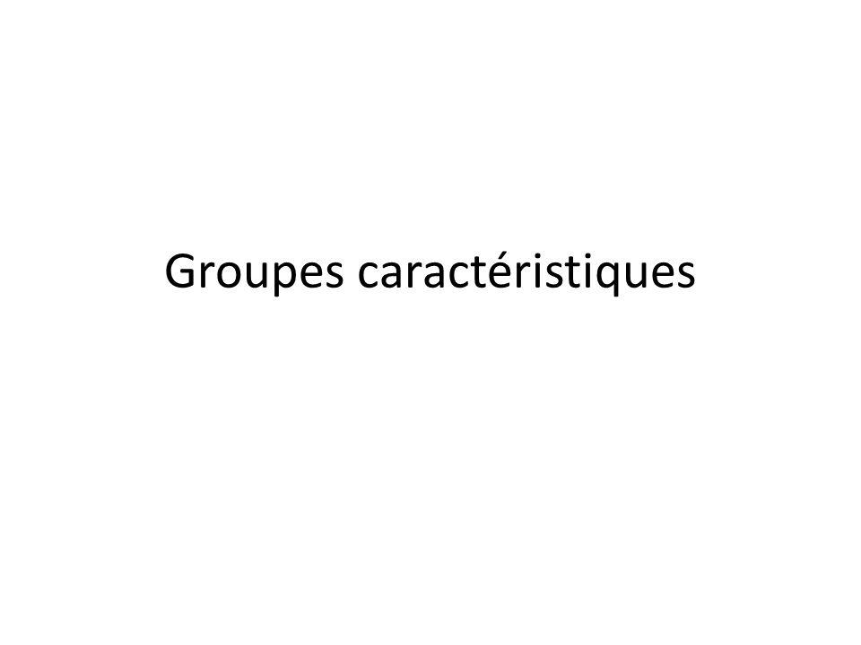 Groupes caractéristiques
