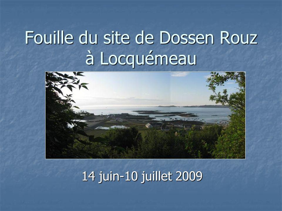 Fouille du site de Dossen Rouz à Locquémeau