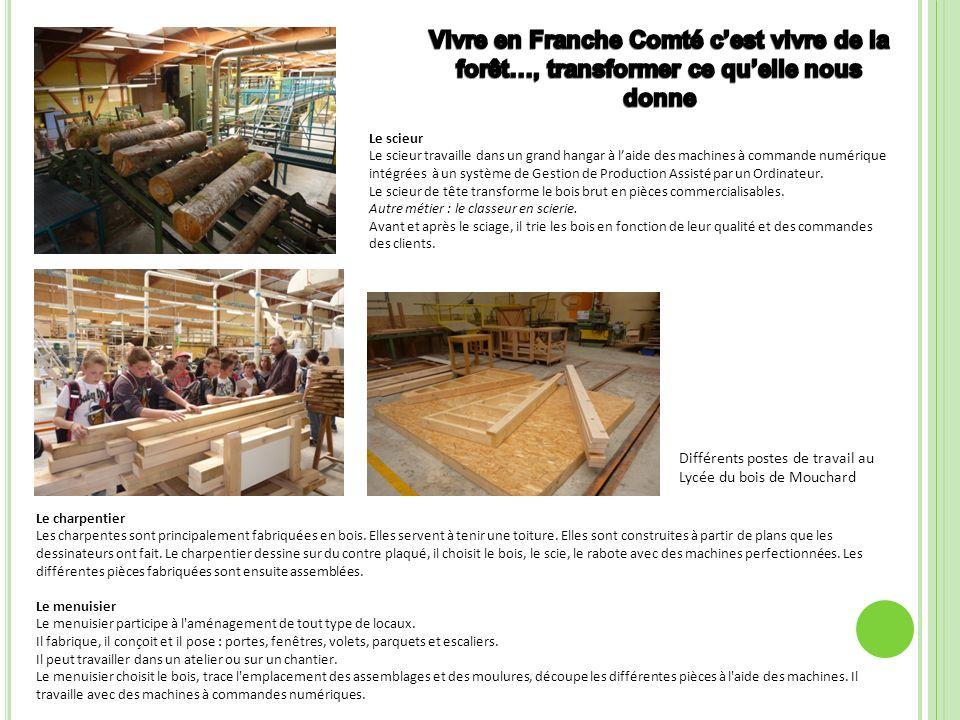 Vivre en Franche Comté c'est vivre de la forêt…, transformer ce qu'elle nous donne