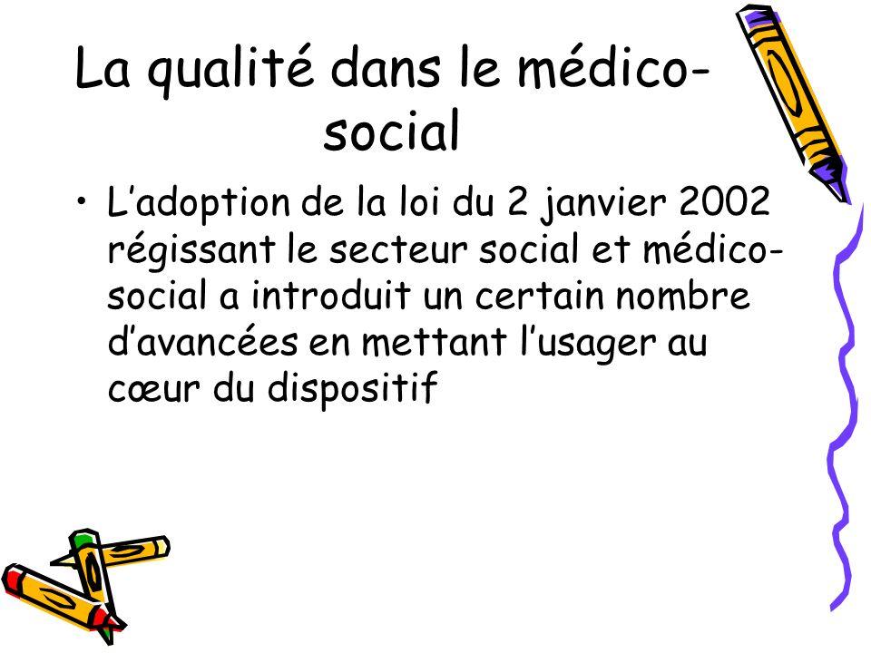 La qualité dans le médico-social