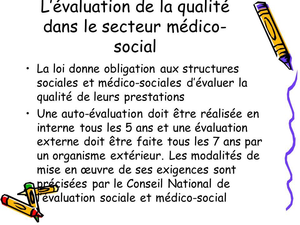 L'évaluation de la qualité dans le secteur médico-social