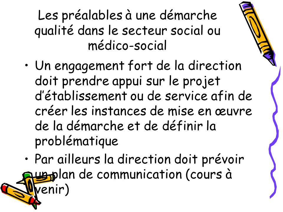 Les préalables à une démarche qualité dans le secteur social ou médico-social