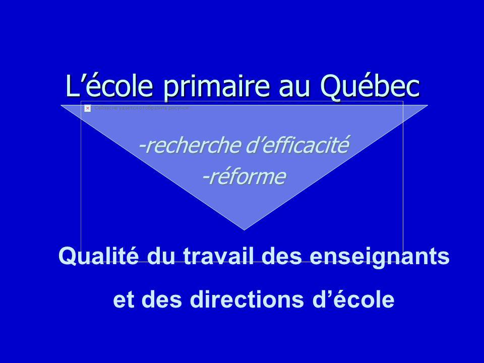 L'école primaire au Québec