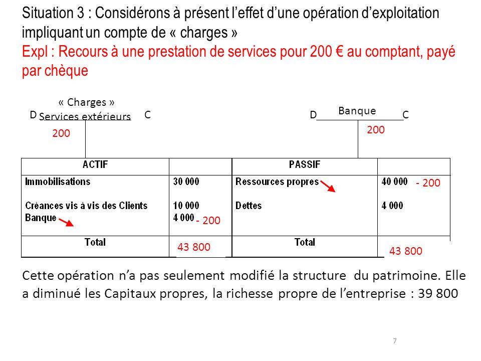 « Charges » Services extérieurs
