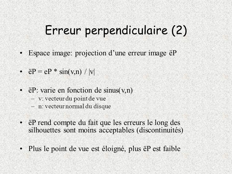 Erreur perpendiculaire (2)